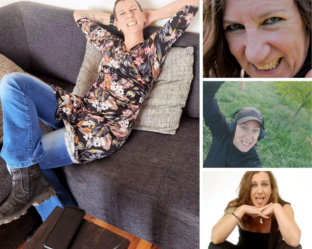 Vier verschiedene Fotos von Sabine Scholze im Rahmen des Rückblicks Mai 2021.