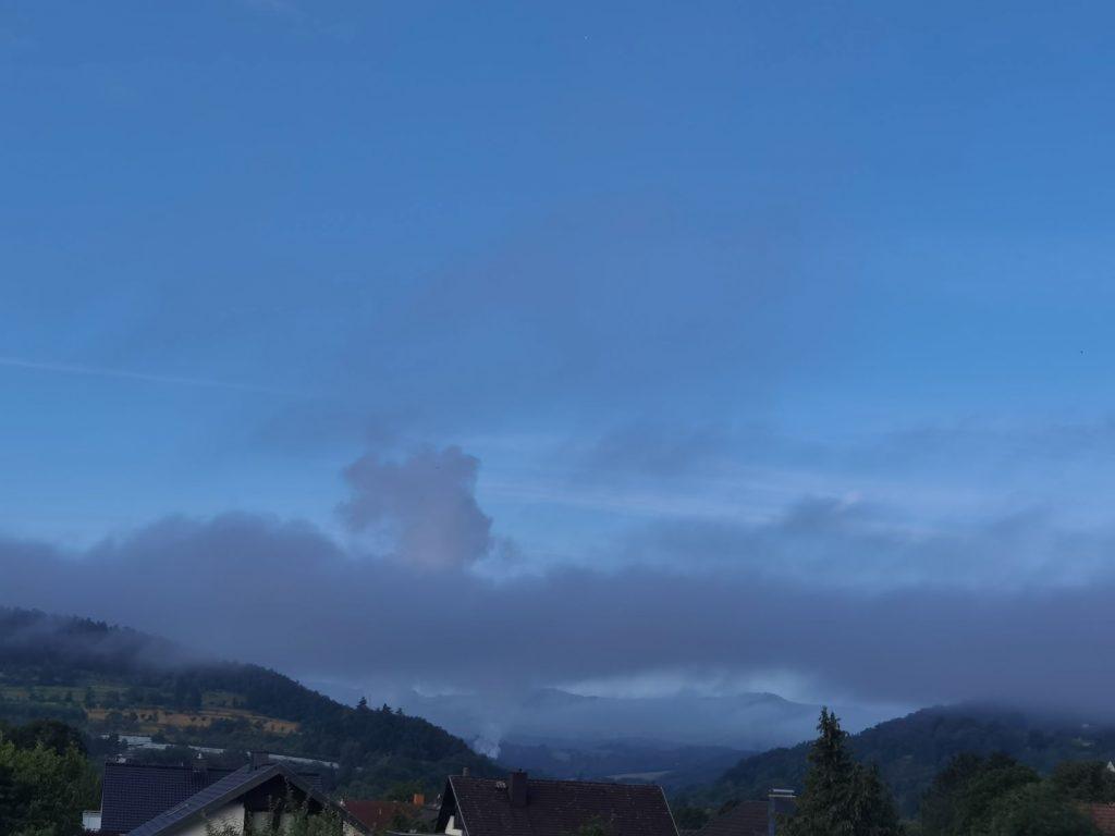 Juli 2021 Blick aus meinem Fenster Gute Nacht Witzenhausen 1
